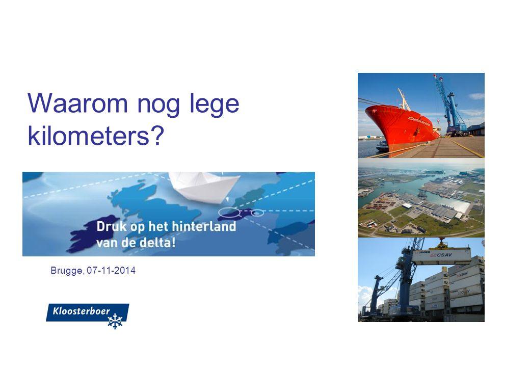 Brugge, 07-11-2014 Waarom nog lege kilometers