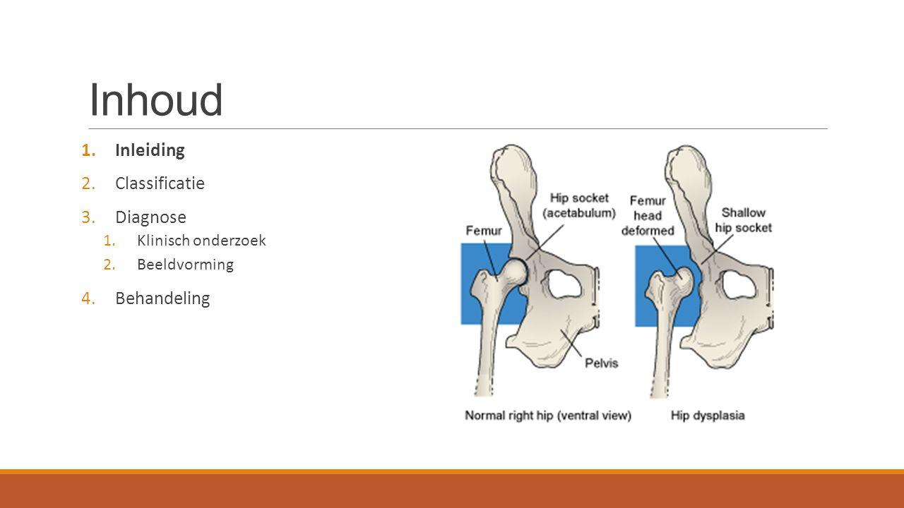 Inhoud 1.Inleiding 2.Classificatie 3.Diagnose 1.Klinisch onderzoek 2.Beeldvorming 4.Behandeling