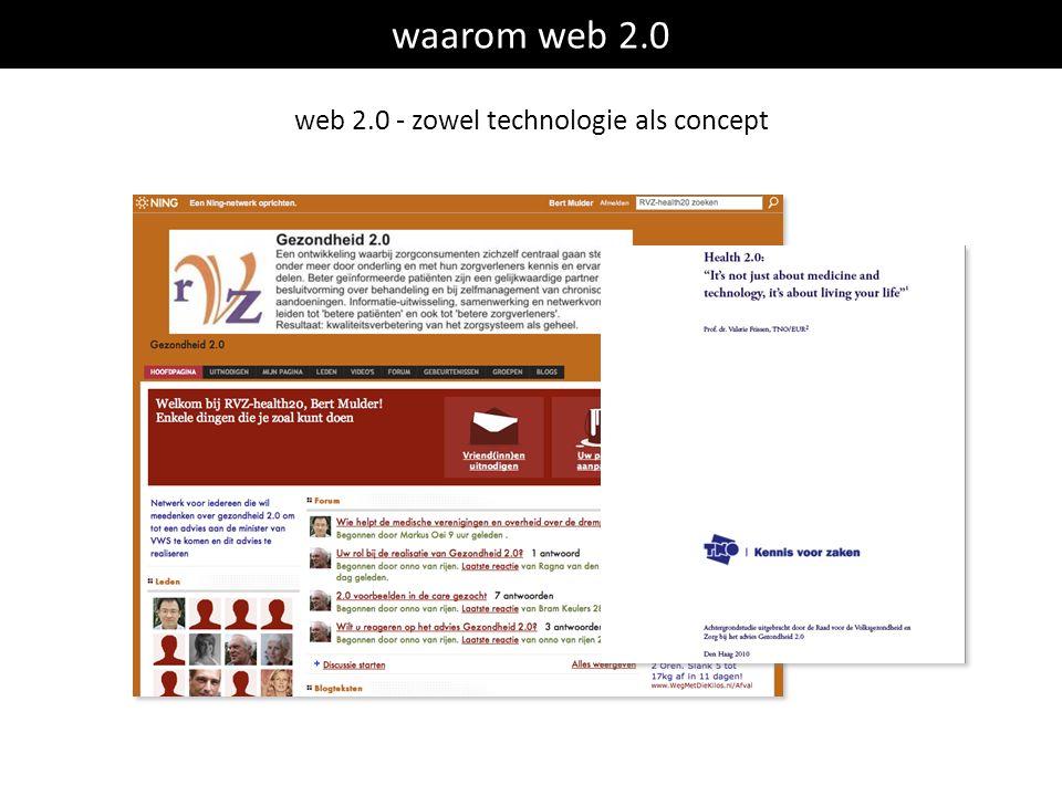 waarom web 2.0 web 2.0 - zowel technologie als concept