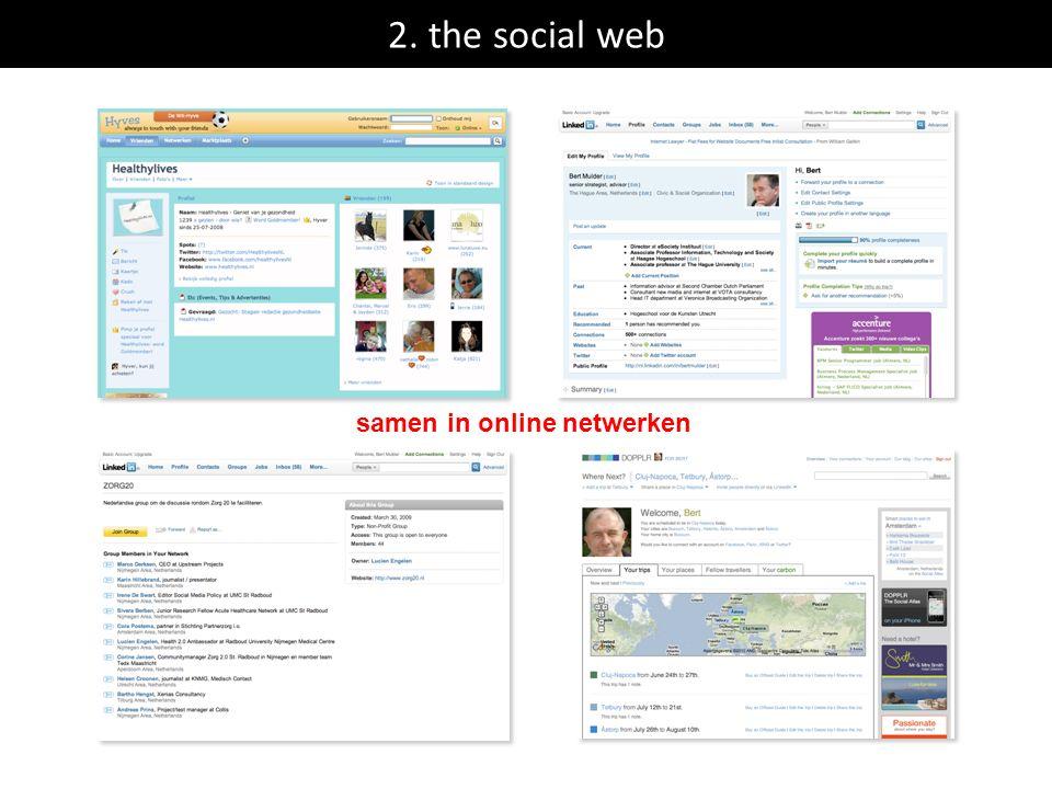2. the social web samen in online netwerken