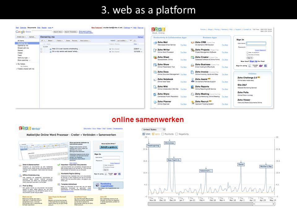 3. web as a platform online samenwerken