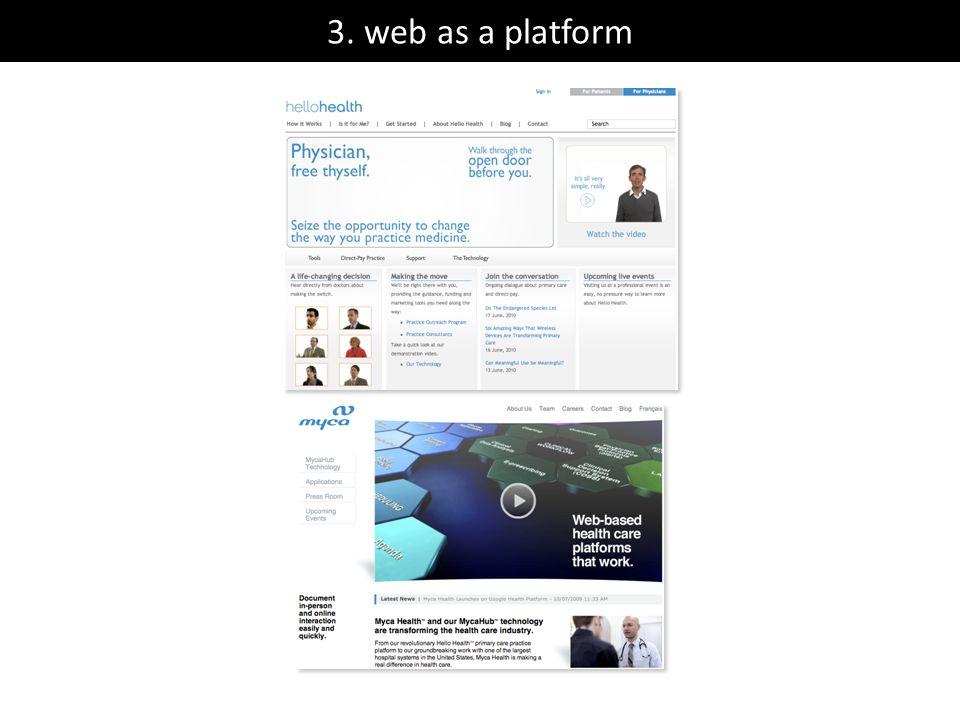 3. web as a platform