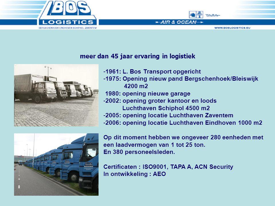 meer dan 45 jaar ervaring in logistiek -1961: L.