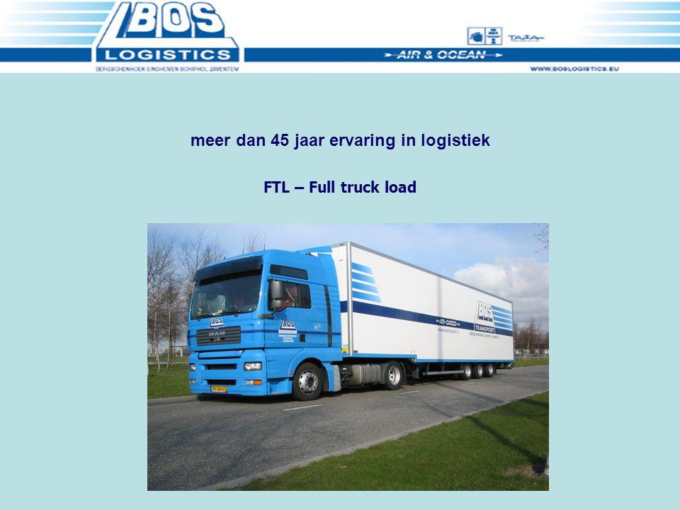 Distributie Luchtvracht (LTL) meer dan 45 jaar ervaring in logistiek
