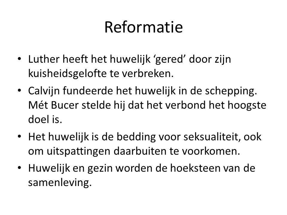 Reformatie Luther heeft het huwelijk 'gered' door zijn kuisheidsgelofte te verbreken.