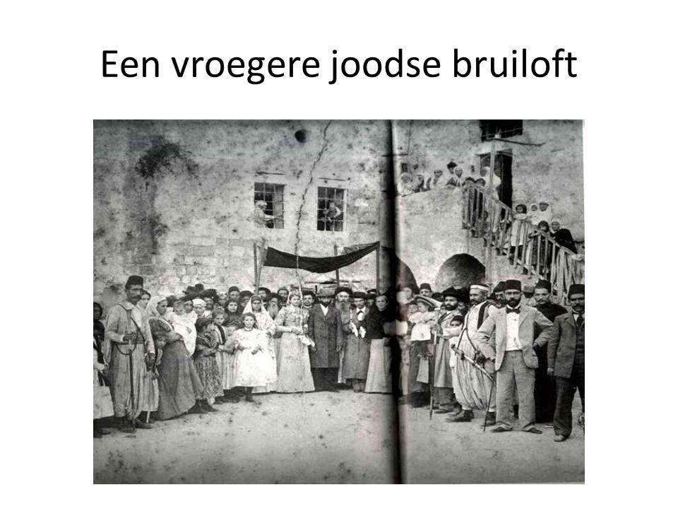 Een vroegere joodse bruiloft