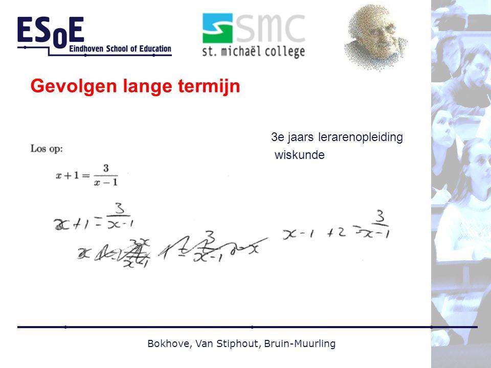 Gevolgen lange termijn 3e jaars lerarenopleiding wiskunde Bokhove, Van Stiphout, Bruin-Muurling