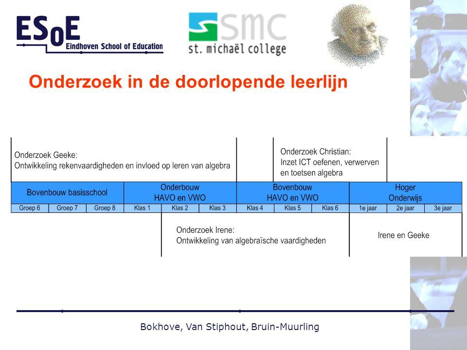 Bokhove, Van Stiphout, Bruin-Muurling Onderzoek in de doorlopende leerlijn
