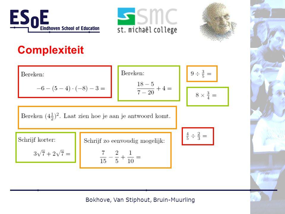 Complexiteit Bokhove, Van Stiphout, Bruin-Muurling