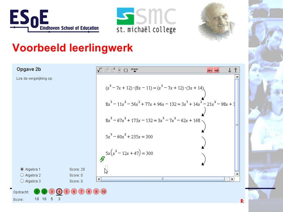 Voorbeeld leerlingwerk Bokhove, Van Stiphout, Bruin-Muurling
