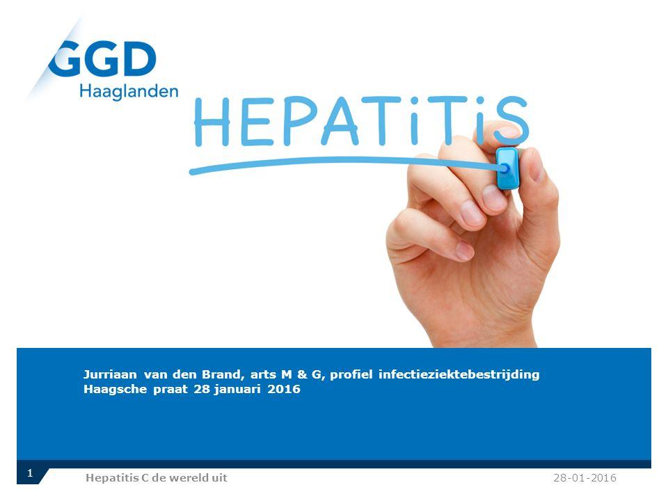 Jurriaan van den Brand, arts M & G, profiel infectieziektebestrijding Haagsche praat 28 januari 2016 28-01-2016Hepatitis C de wereld uit 1