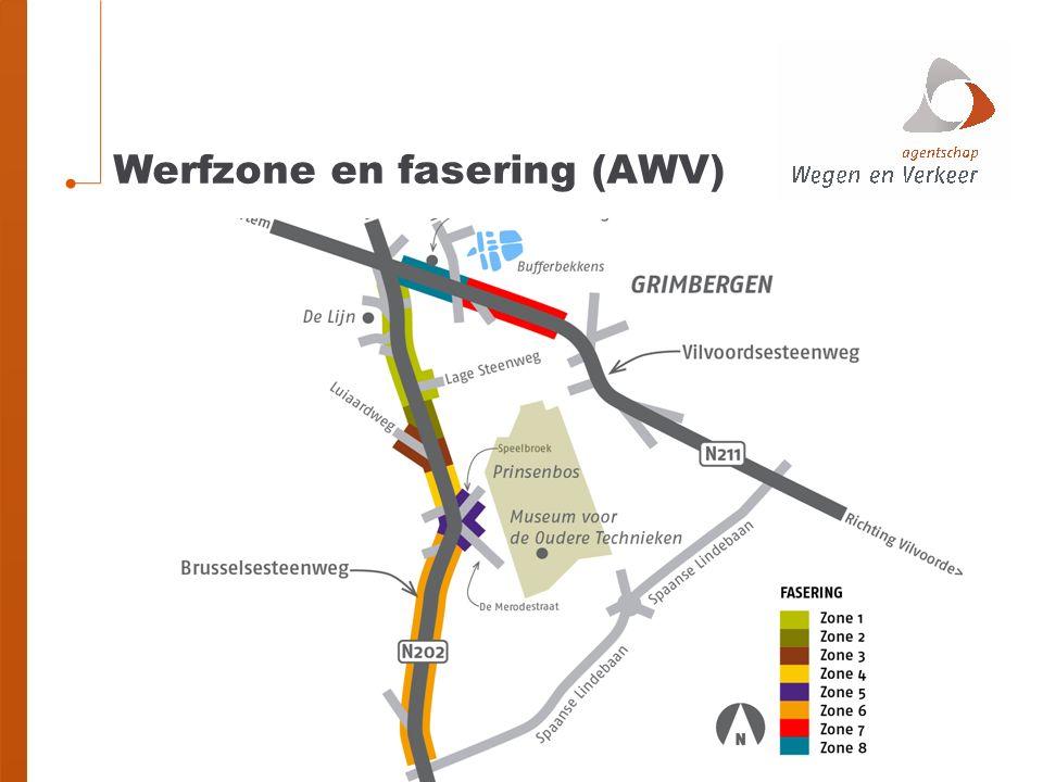 Vanaf voorjaar 2016: Herinrichting zone 1 (EXCLUSIEF herinrichting kruispunt Lage Steenweg) Brusselsesteenweg volledig afgesloten Herinrichting zones 7 en 8 Wolvertemsesteenweg volledig afgesloten Herinrichting zones 2-3-4-5 Brusselsesteenweg volledig afgesloten Herinrichting zone 6 Brusselsesteenweg rijrichting Beigem afgesloten