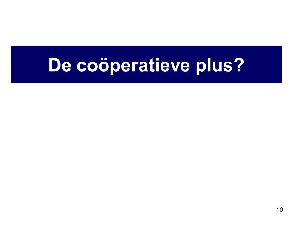 10 De coöperatieve plus