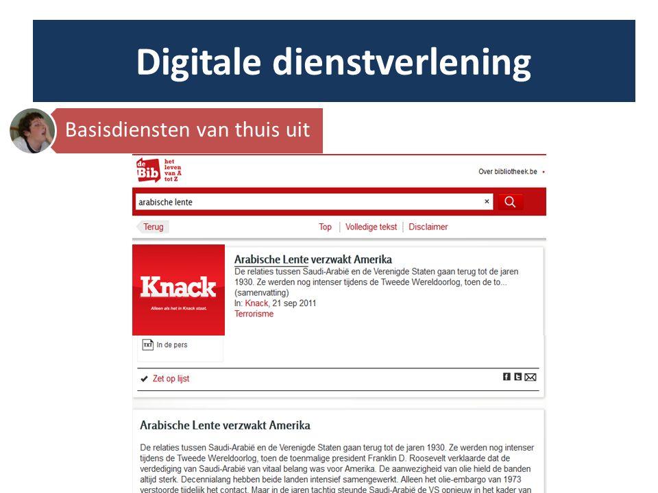 Digitale dienstverlening © Koen Broos In de bib