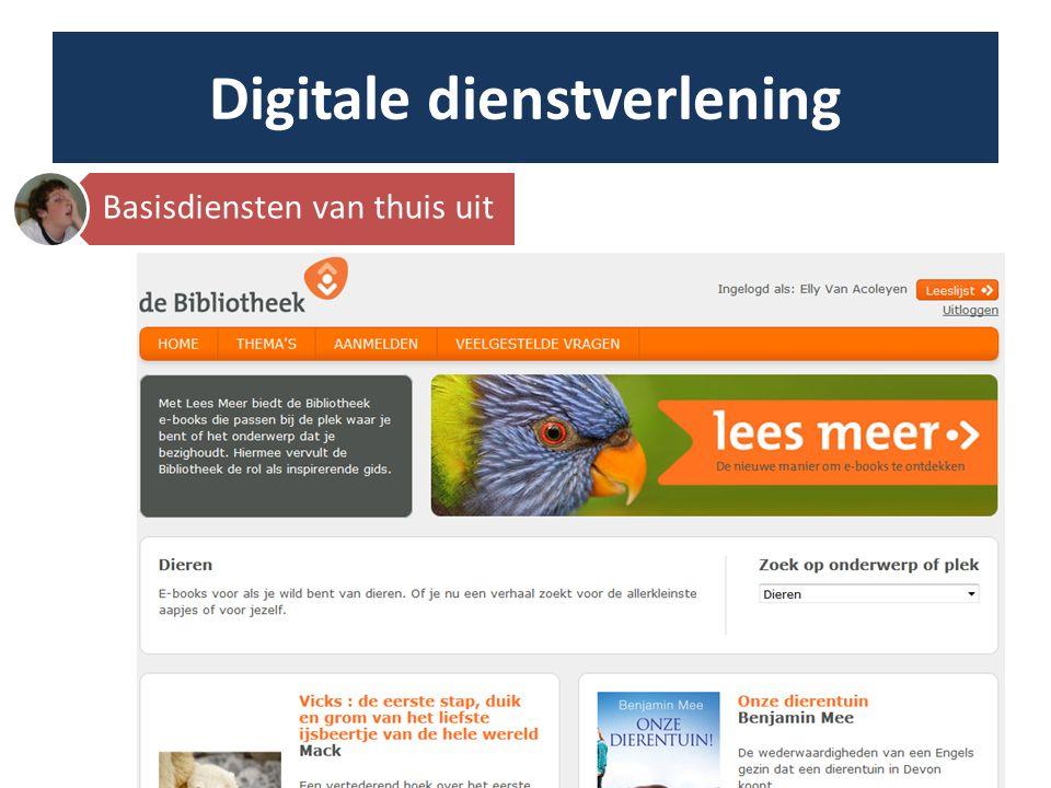 Digitale dienstverlening http://www.flickr.com/photos/notkalvin/7713050262/ In de bib