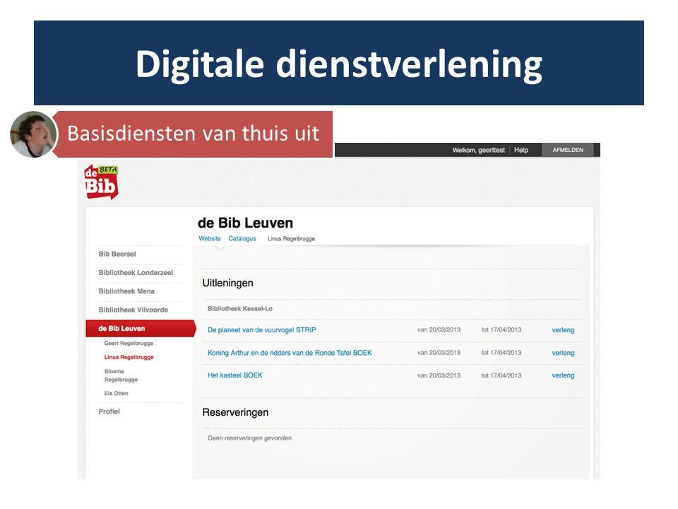 Digitale dienstverlening Extra's