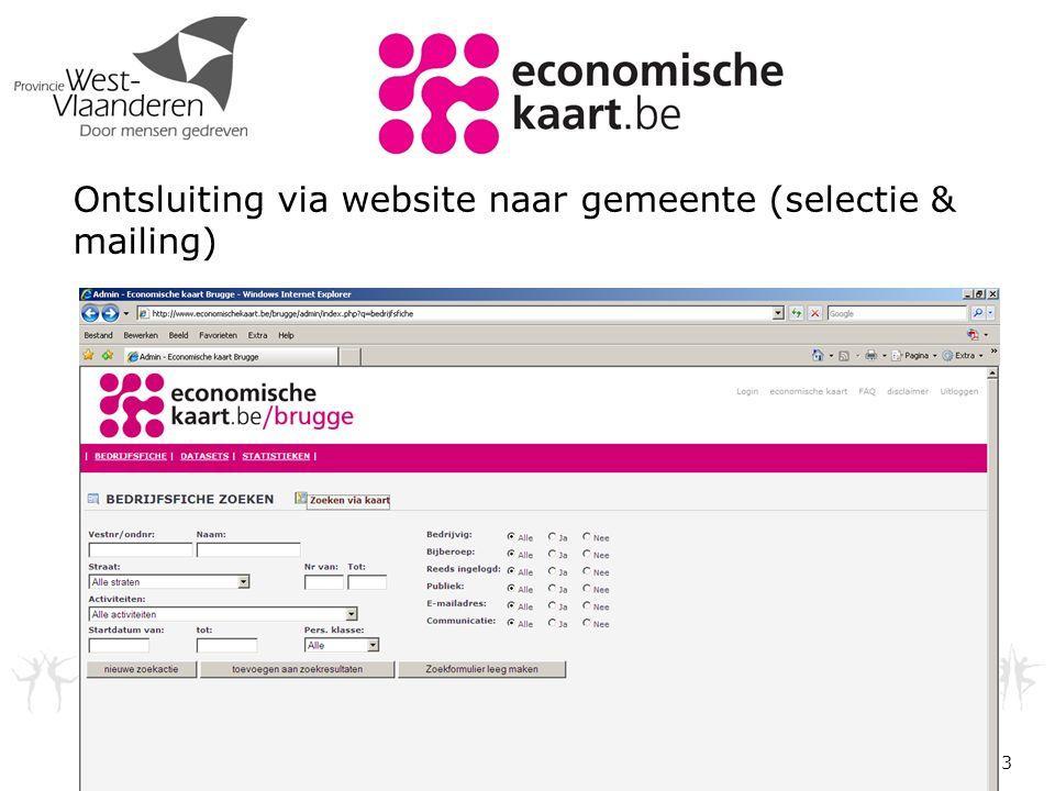 3 Ontsluiting via website naar gemeente (selectie & mailing)