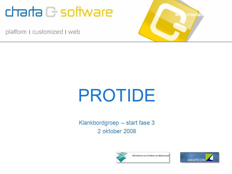 www.chartasoftware.com Klankbordgroep – start fase 3 2 oktober 2008 PROTIDE