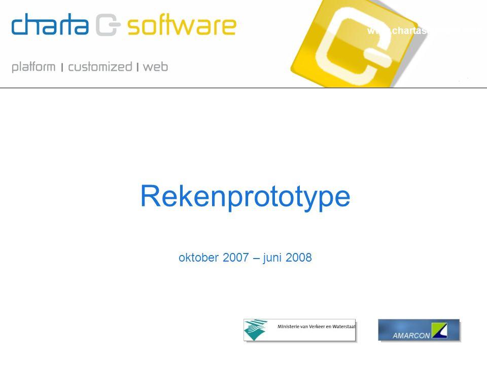 www.chartasoftware.com oktober 2007 – juni 2008 Rekenprototype