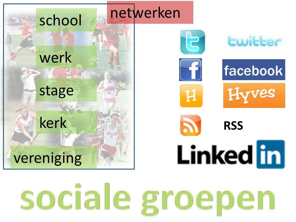 werk school stage vereniging kerk netwerken RSS