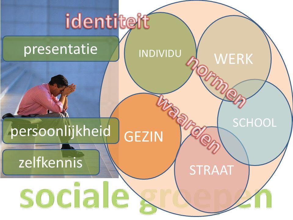 GEZIN STRAAT SCHOOL WERK INDIVIDU zelfkennis persoonlijkheid presentatie