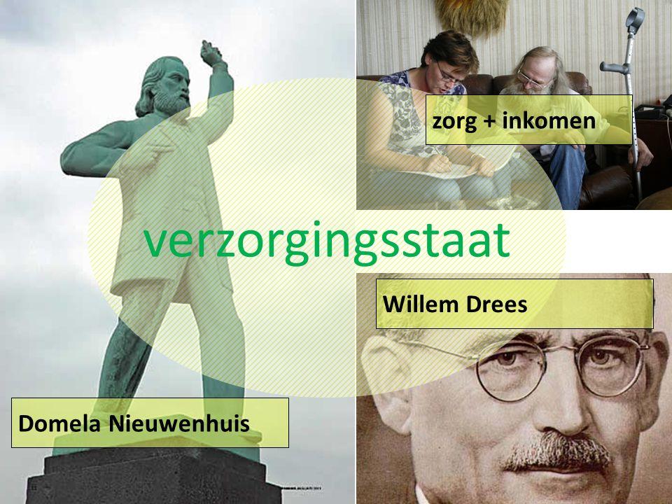 verzorgingsstaat zorg + inkomen Domela Nieuwenhuis Willem Drees