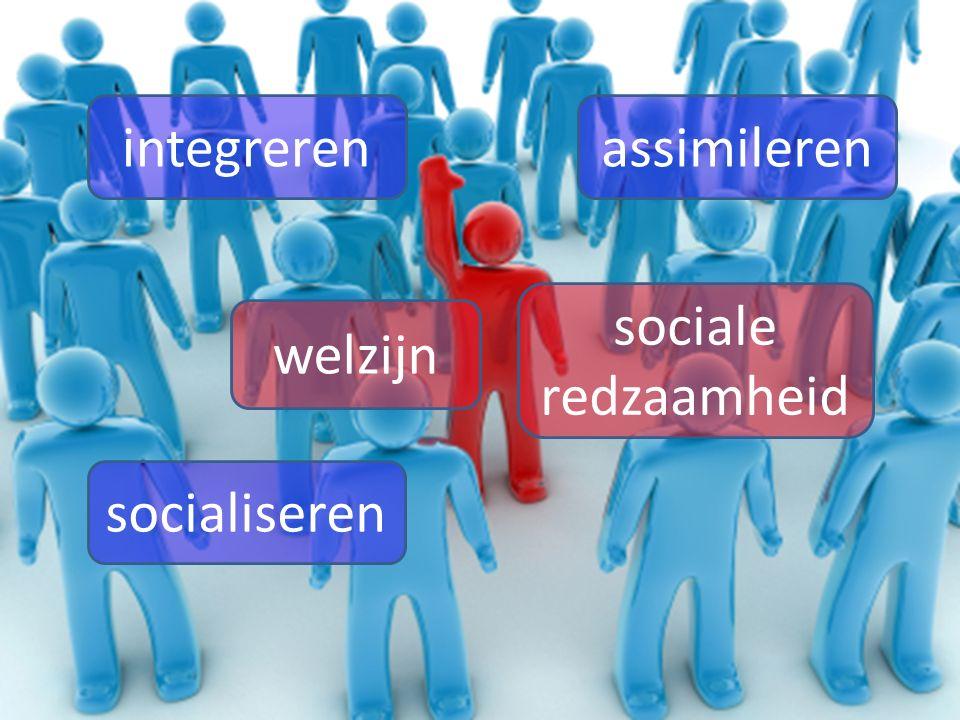 socialiseren integrerenassimileren sociale redzaamheid welzijn