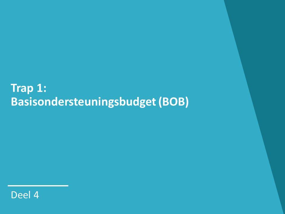 Trap 1: Basisondersteuningsbudget (BOB) Deel 4