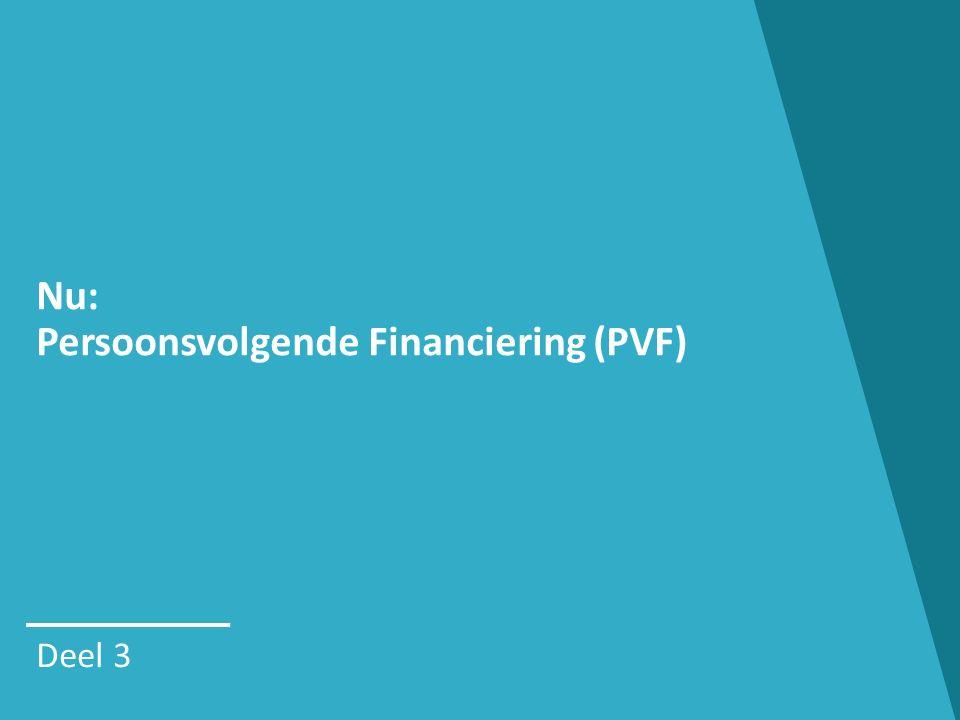 PERSOONSVOLGENDE FINANCIERING (PVF) Trap 1: BOB Basisondersteuningsbudget makkelijk automatische toekenning voor beperkte groep (tot 2018) vast bedrag beperkte ondersteuning combineerbaar met RTH en/of hulpmiddelen (IMB) 19 Trap 2: PVB Persoonsvolgend Budget iets moeilijker moet je aanvragen (prioritering) bedrag op maat intensieve ondersteuning combineerbaar met hulpmiddelen (IMB)