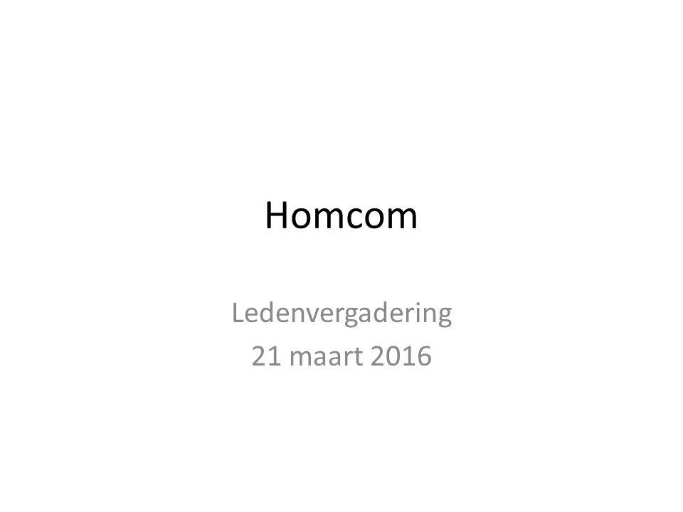 Homcom Ledenvergadering 21 maart 2016