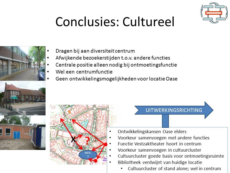 Conclusies: Cultureel Dragen bij aan diversiteit centrum Afwijkende bezoekerstijden t.o.v.