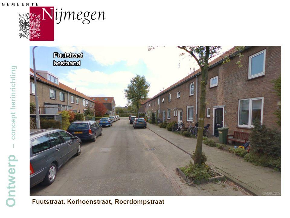 Gemeente Nijmegen Ontwerp – concept herinrichting Fuutstraat, Korhoenstraat, Roerdompstraat