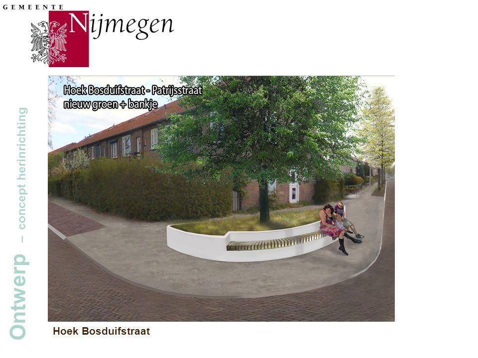 Gemeente Nijmegen Ontwerp – concept herinrichting Hoek Bosduifstraat