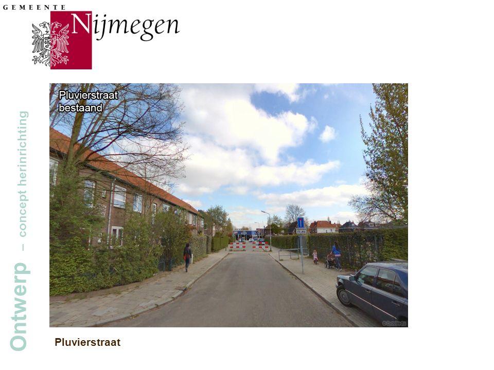 Gemeente Nijmegen Ontwerp – concept herinrichting Pluvierstraat