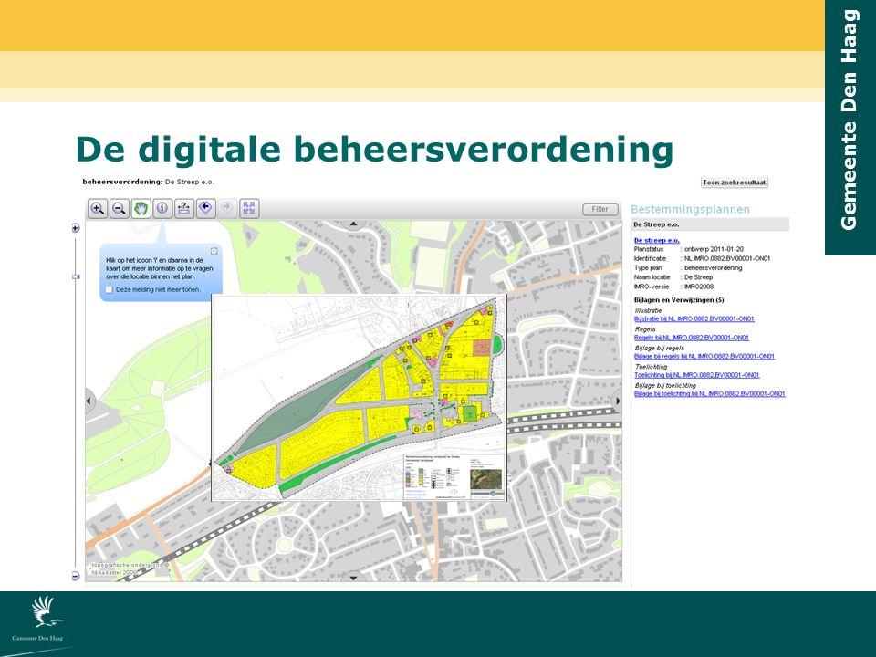 Gemeente Den Haag De digitale beheersverordening