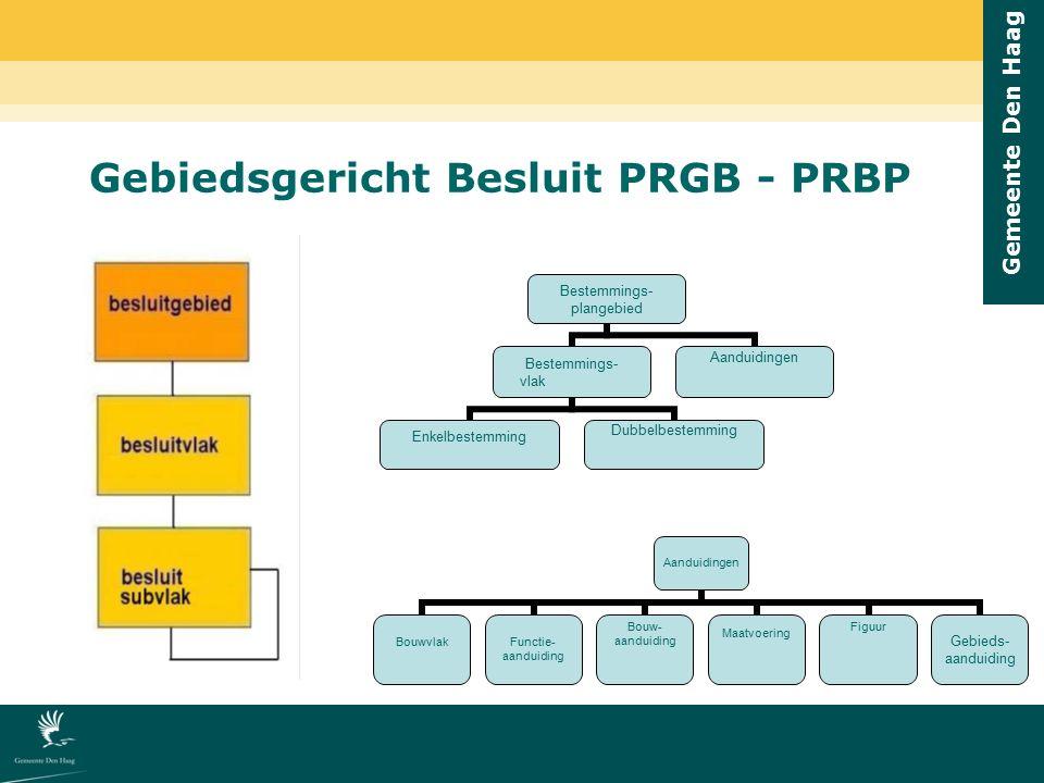 Gemeente Den Haag Gebiedsgericht Besluit PRGB - PRBP Bestemmings- plangebied Bestemmings- vlak EnkelbestemmingDubbelbestemming Aanduidingen BouwvlakFu