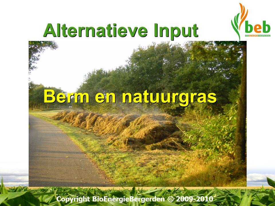Copyright BioEnergieBergerden © 2009-2010 Alternatieve Input Berm en natuurgras Alternatieve Input Berm en natuurgras