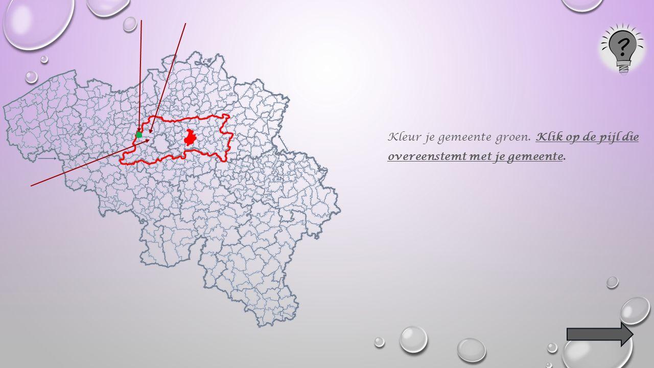 Kleur de hoofdplaats van je provincie rood.