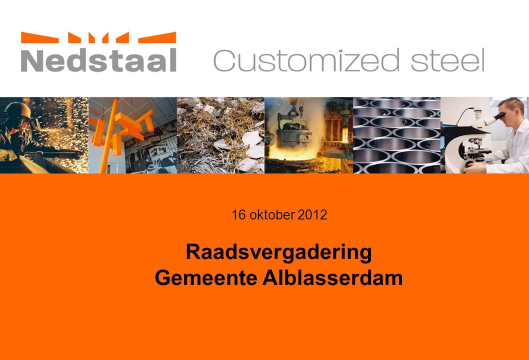 16 oktober 2012 Raadsvergadering Gemeente Alblasserdam