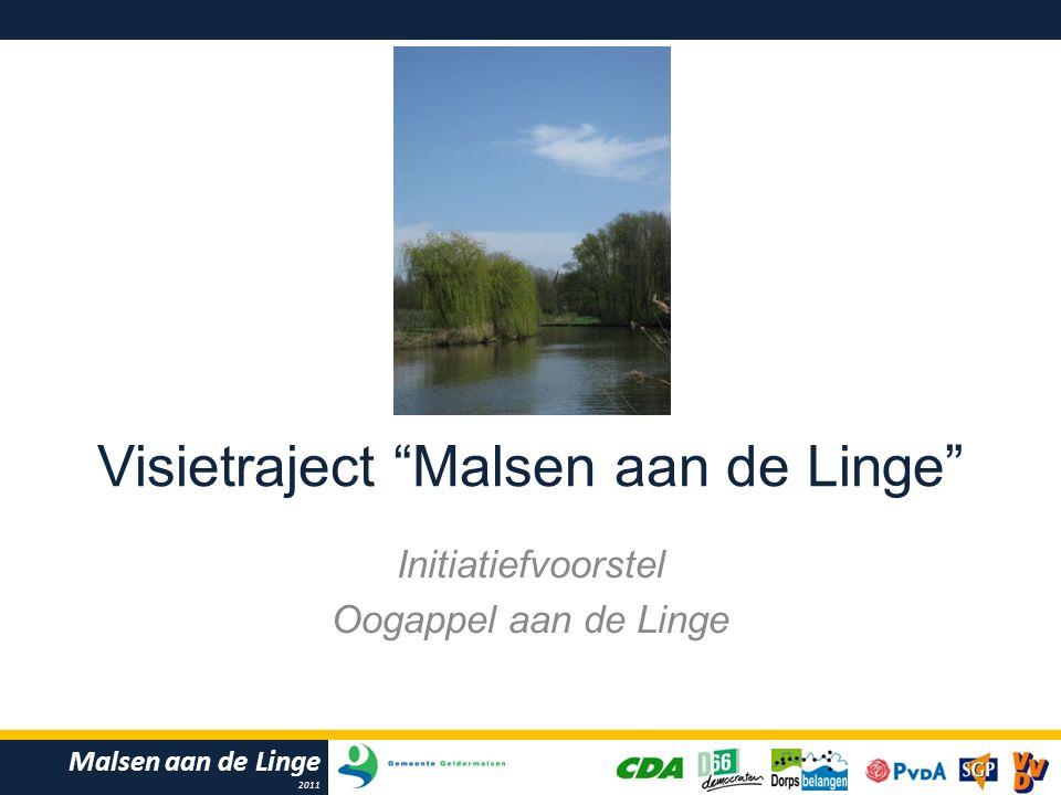 Malsen aan de Linge 2011 Visietraject Malsen aan de Linge Initiatiefvoorstel Oogappel aan de Linge