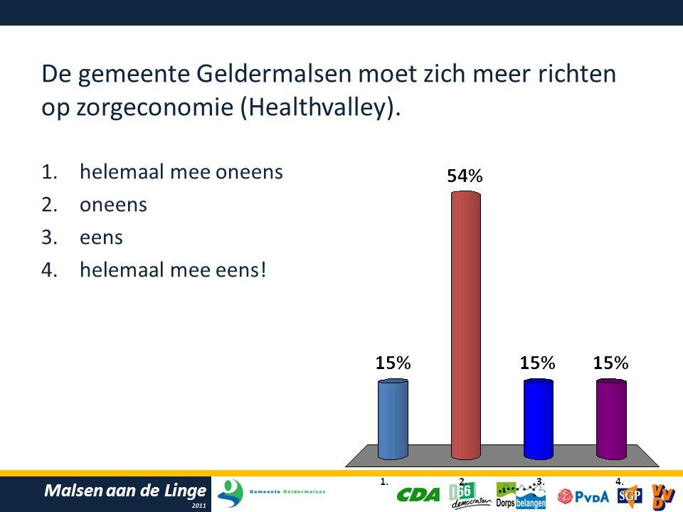 Malsen aan de Linge 2011 De gemeente Geldermalsen moet zich meer richten op zorgeconomie (Healthvalley).