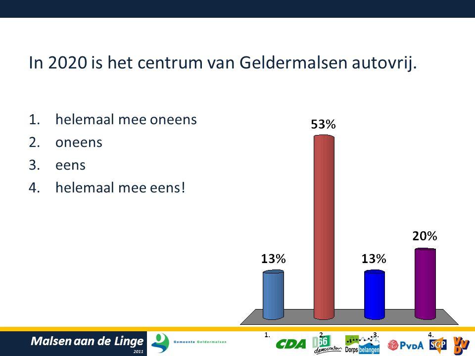 Malsen aan de Linge 2011 In 2020 is het centrum van Geldermalsen autovrij.