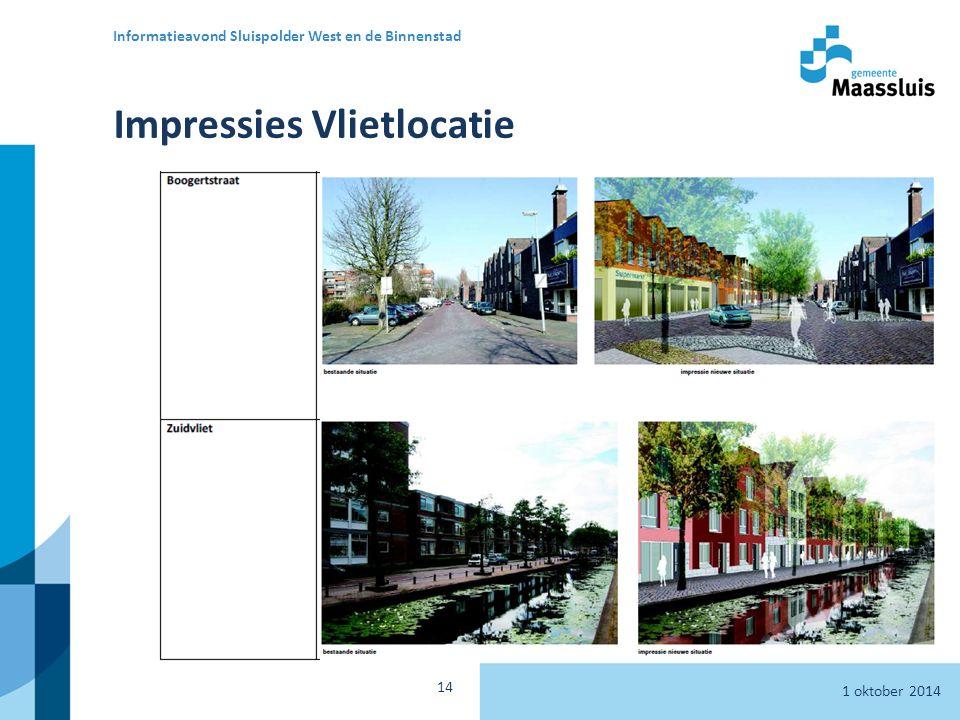 Impressies Vlietlocatie 1 oktober 2014 Informatieavond Sluispolder West en de Binnenstad 14