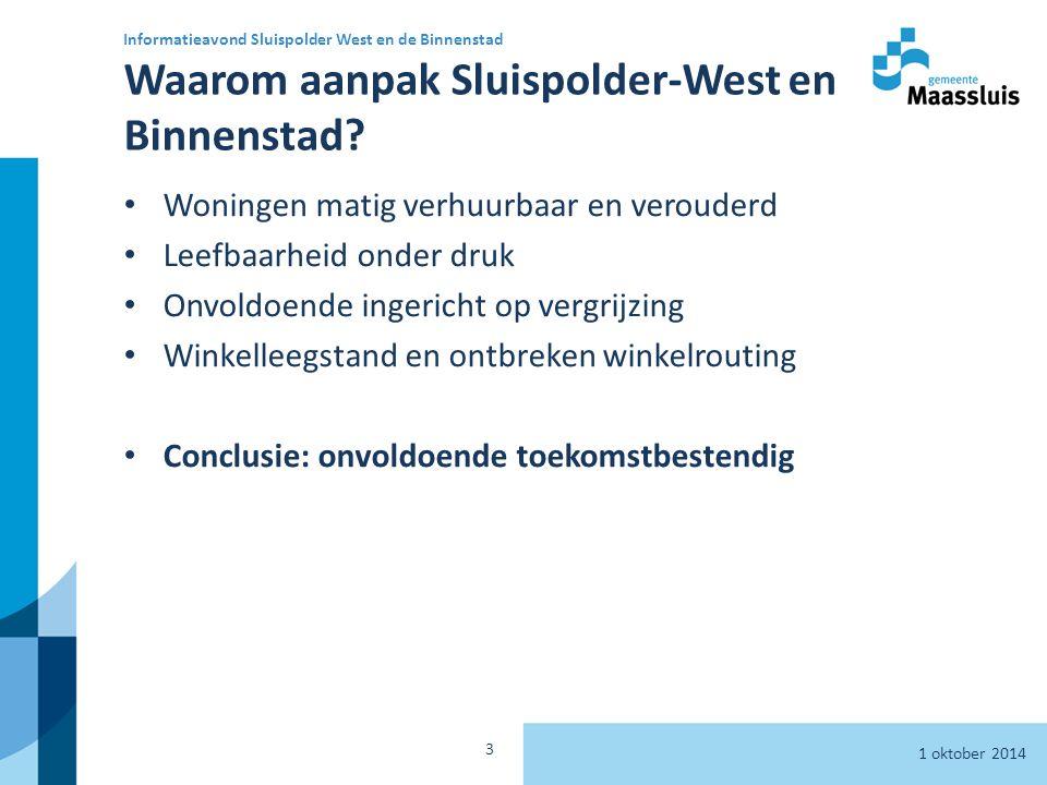 Waarom aanpak Sluispolder-West en Binnenstad.