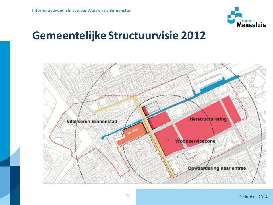 Gemeentelijke Structuurvisie 2012 1 oktober 2014 Informatieavond Sluispolder West en de Binnenstad 4