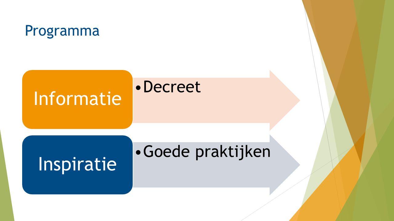 Programma Decreet Informatie Goede praktijken Inspiratie