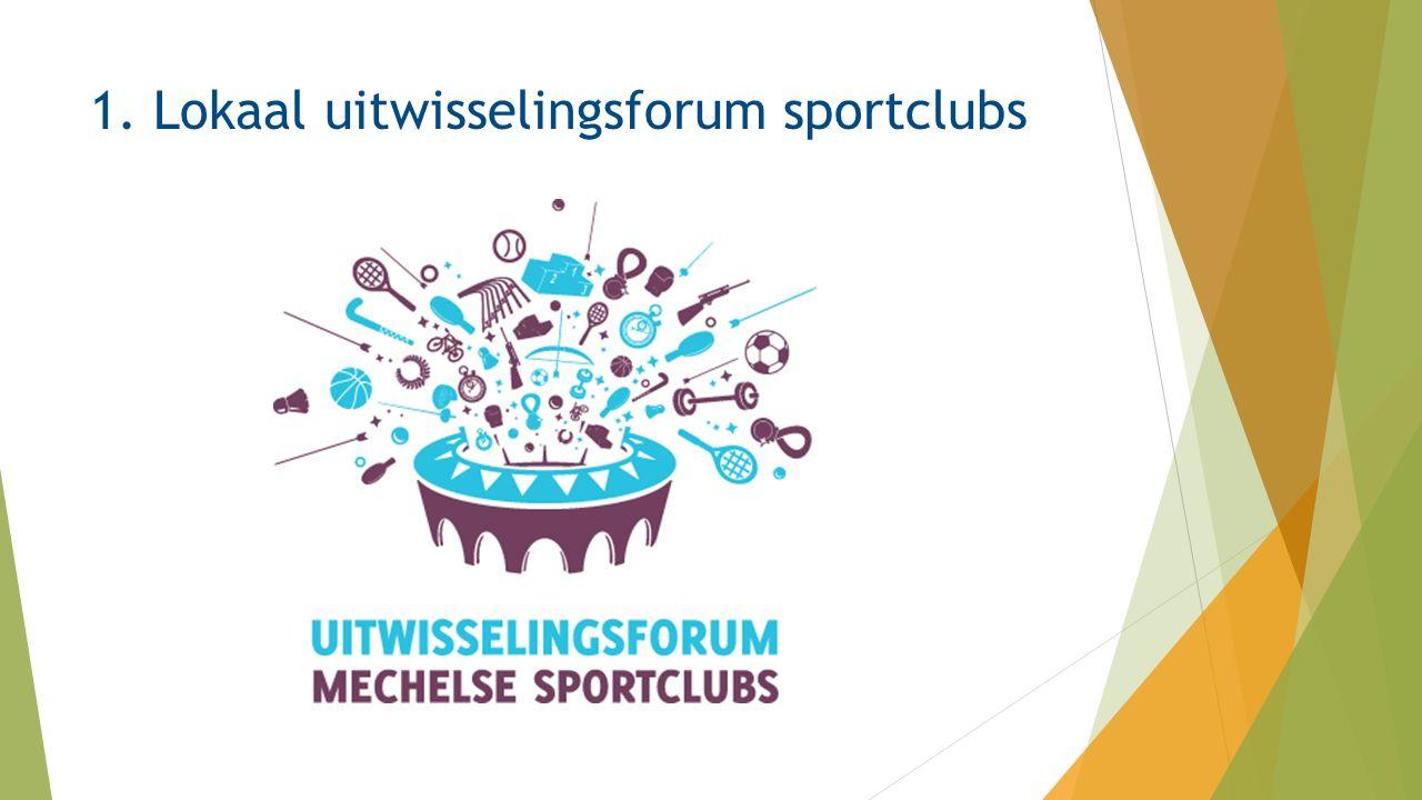 1. Lokaal uitwisselingsforum sportclubs
