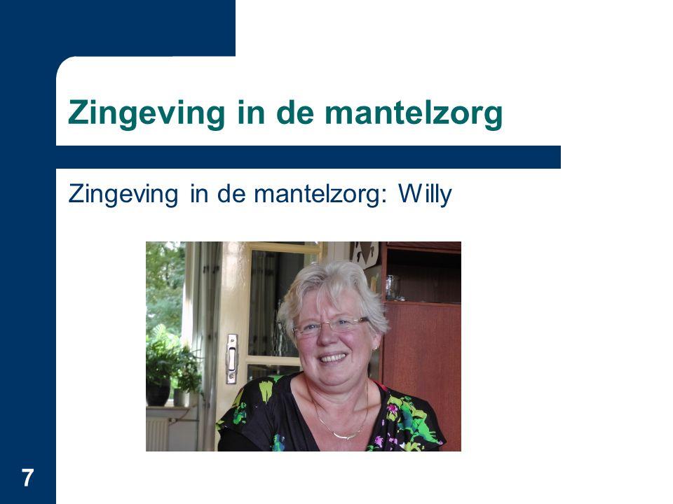8 Zingeving in de mantelzorg 2003: S.Opdebeeck: Zin in zorg.