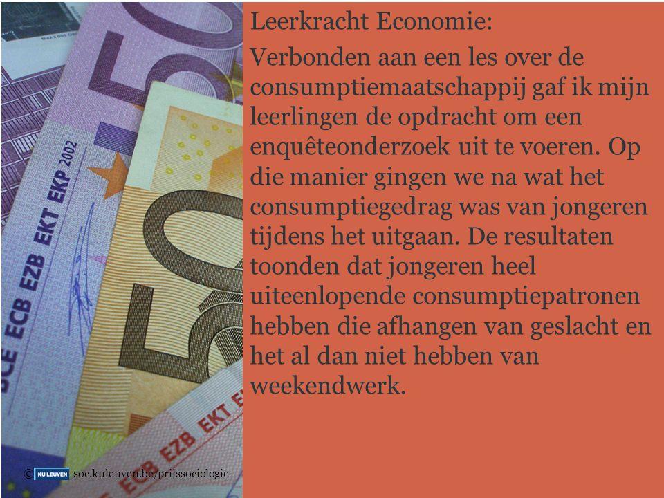 Leerkracht Economie: Verbonden aan een les over de consumptiemaatschappij gaf ik mijn leerlingen de opdracht om een enquêteonderzoek uit te voeren.
