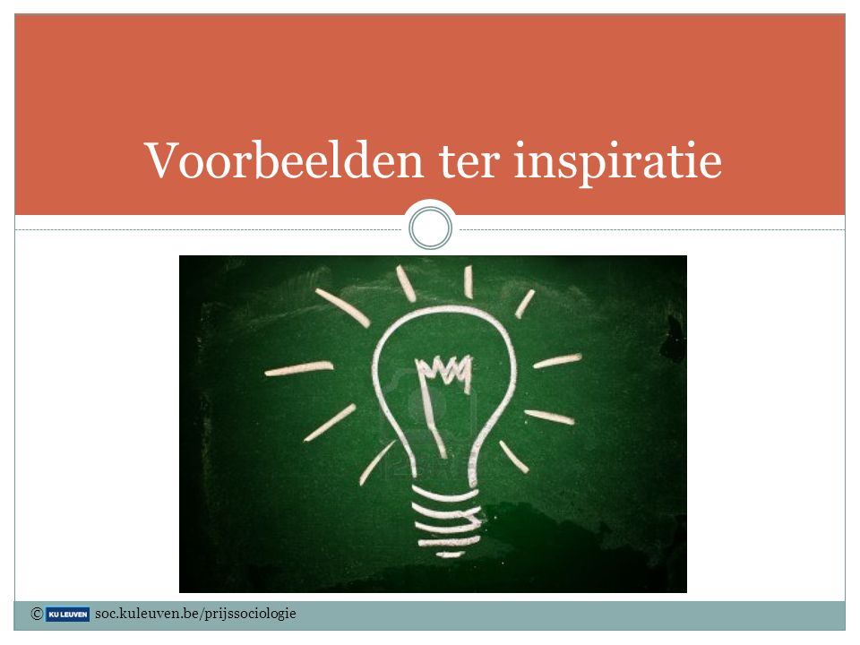 Voorbeelden ter inspiratie © soc.kuleuven.be/prijssociologie